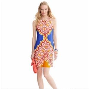Banana Republic Sz 2P pink orange print dress